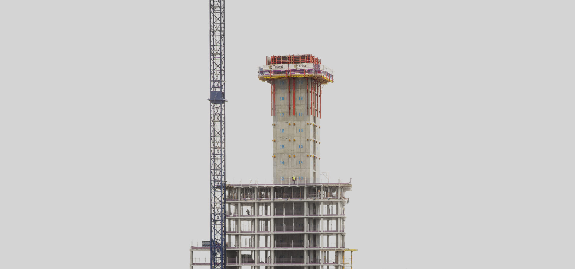 Rutherford Street Prs Newcastle City Centre Hadrians Tower Under Construction Hh