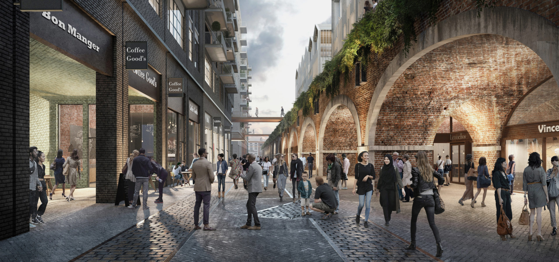The Goodsyard London Masterplan Arches Retail Middle Road Hh