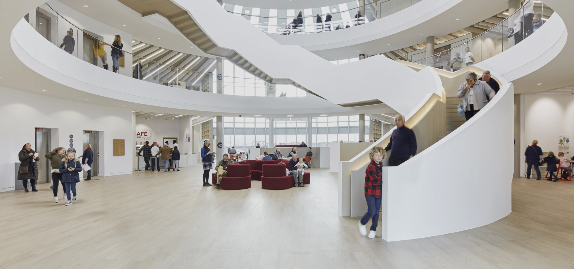 The Word South Shields Vast Circular Atrium Space Feature Stair Hh