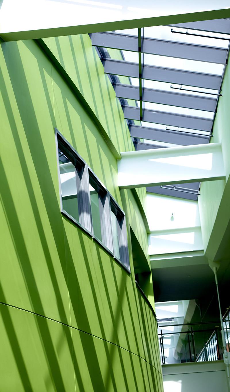 Ashton Campus Tameside School Natural Daylighting Skylight Atrium Sp