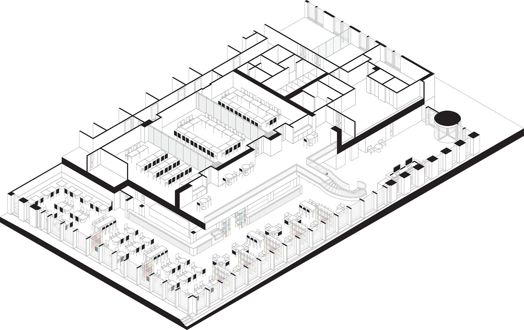 Melia Hotel Newcastle Quayside Ground Floor Axonometric Illustration L