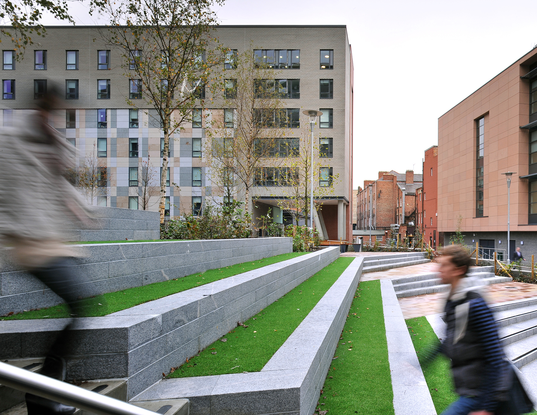 Into Newcastle University Student Residences Landscaped Public Realm L