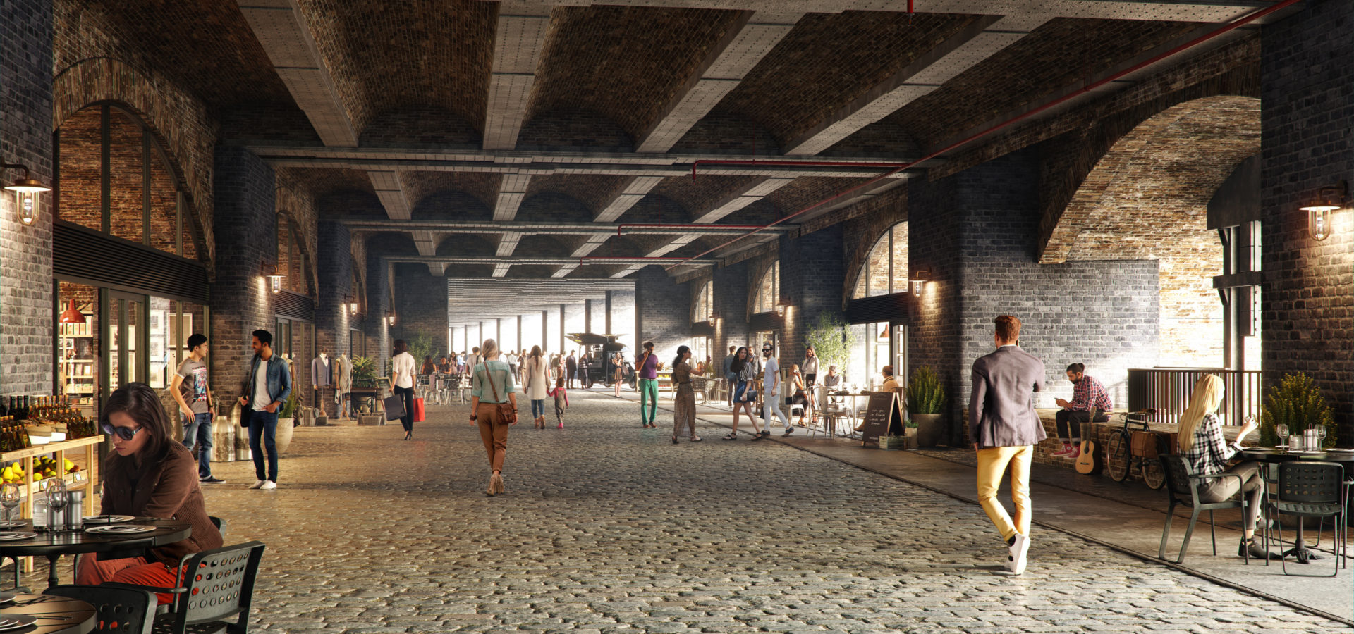 The Goodsyard Mixed Use Masterplan Faulknerbrowns Architects Through The Arches Retail Hh