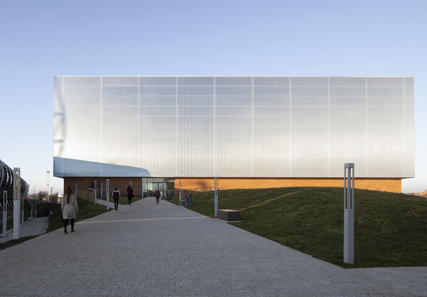 Beacon Of Light Sunderland Sport Education Workplace Community Front Elevation Faulknerbrowns Architects Lh