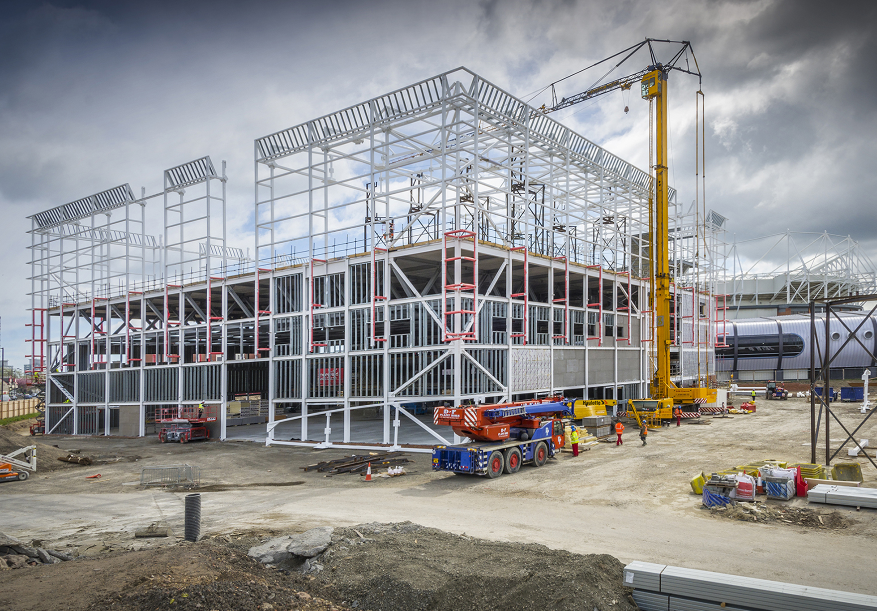 Beacon Of Light Sunderland Sport Education Workplace External Construction Progress Steel Frame Near Completion Lh