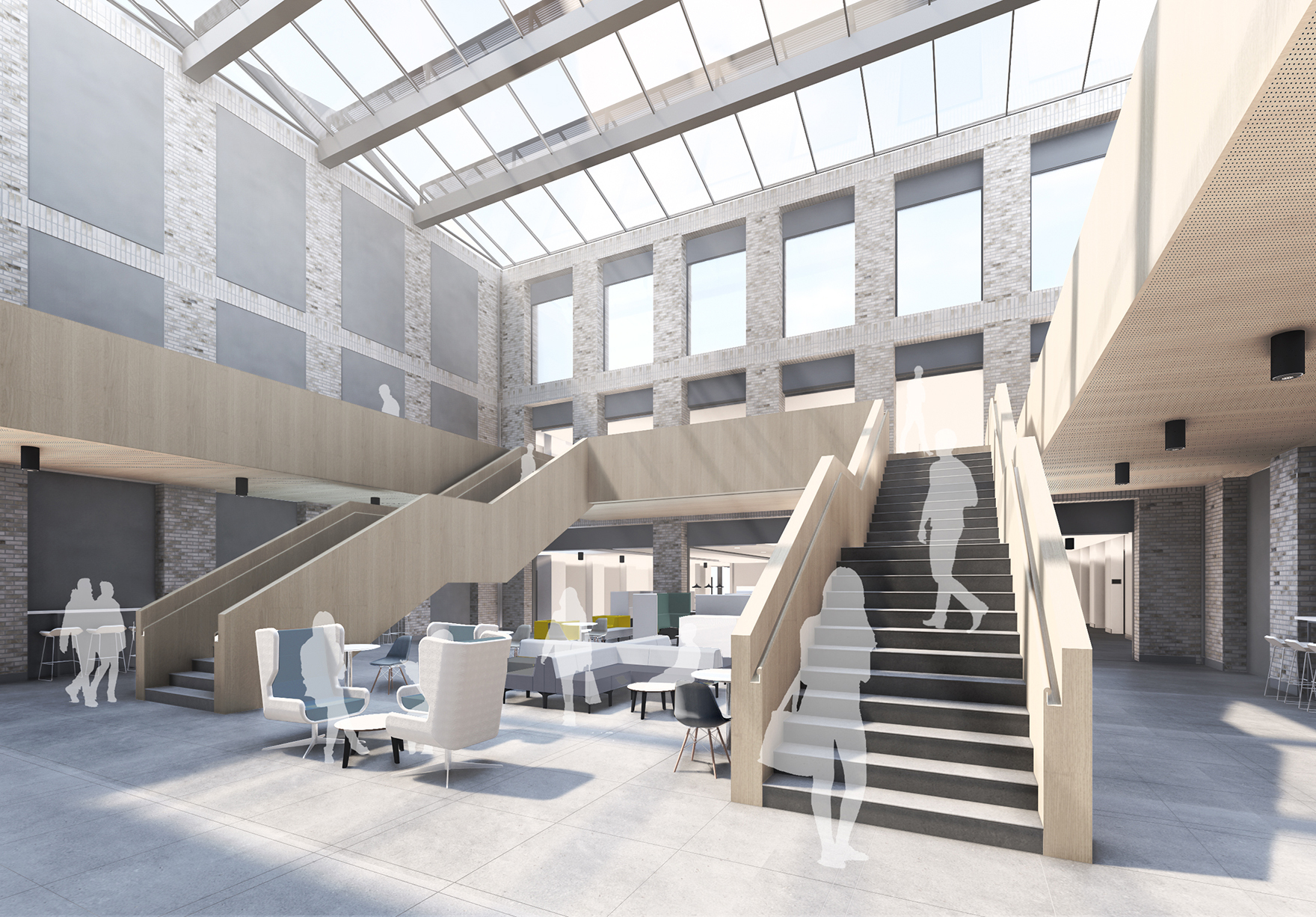Durham University Centre For Teaching And Learning Lower Mountjoy Durham Higher Education Sketch Atrium