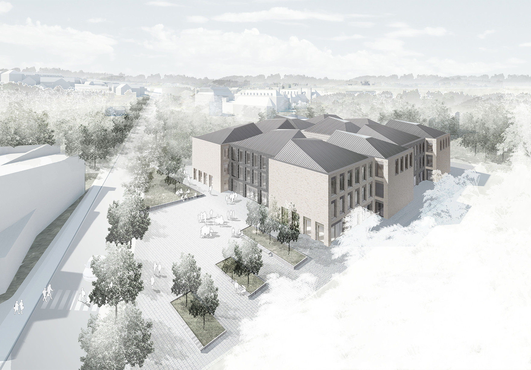 Durham University Centre For Teaching And Learning Lower Mountjoy Durham Higher Education Sketch Entrance View Lh