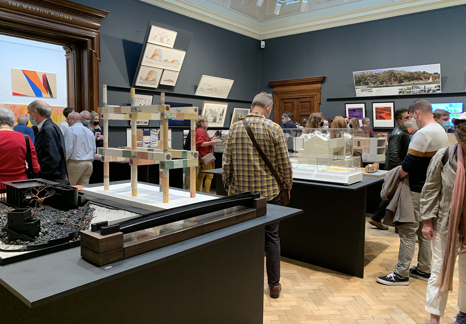 Faulknerbrowns Model Royal Academy Summer Exhibition Bridging Heritage 2021 Architecture Room