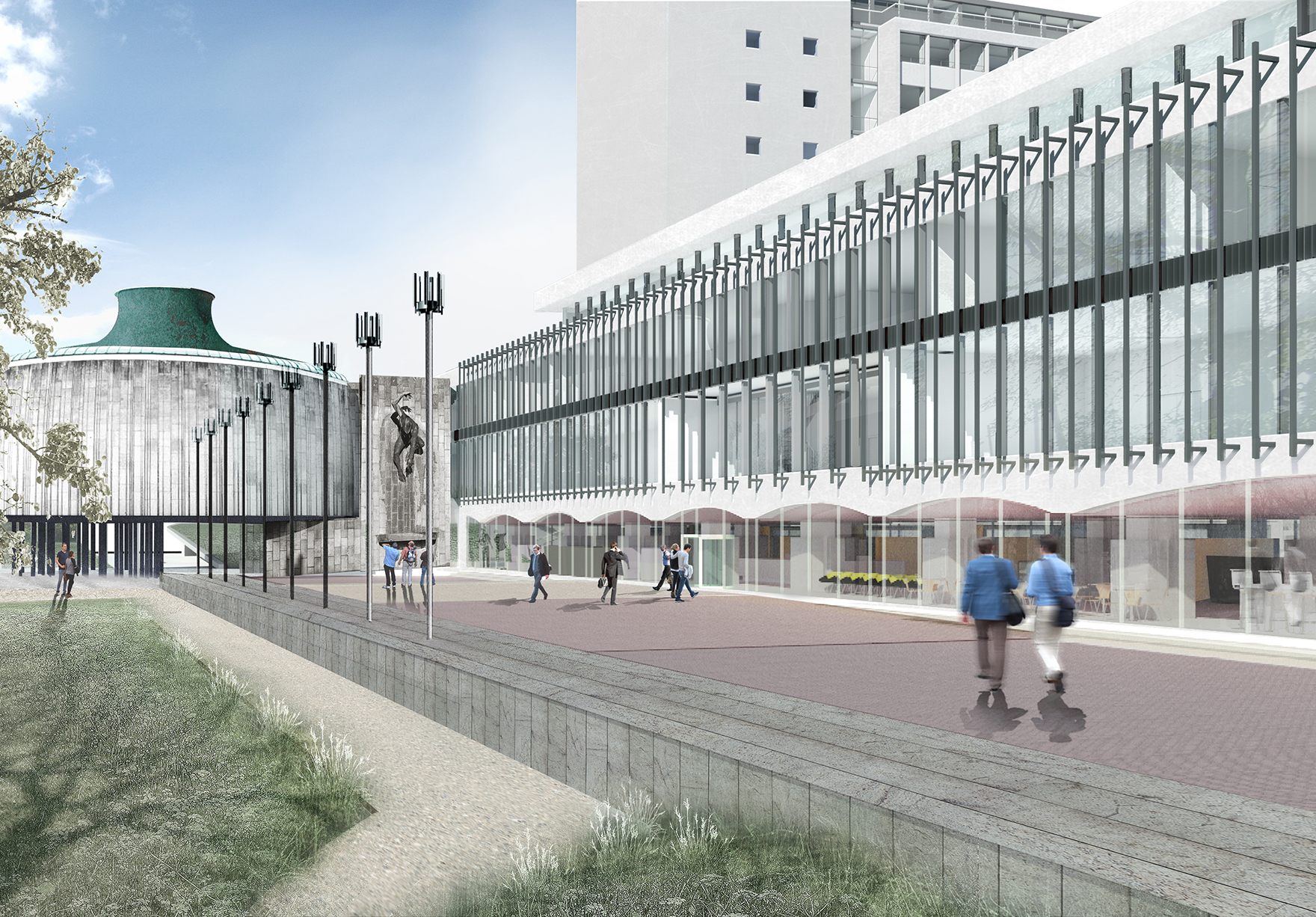 Newcastle Civic Centre Office Refurbishment Listed Close External Lh