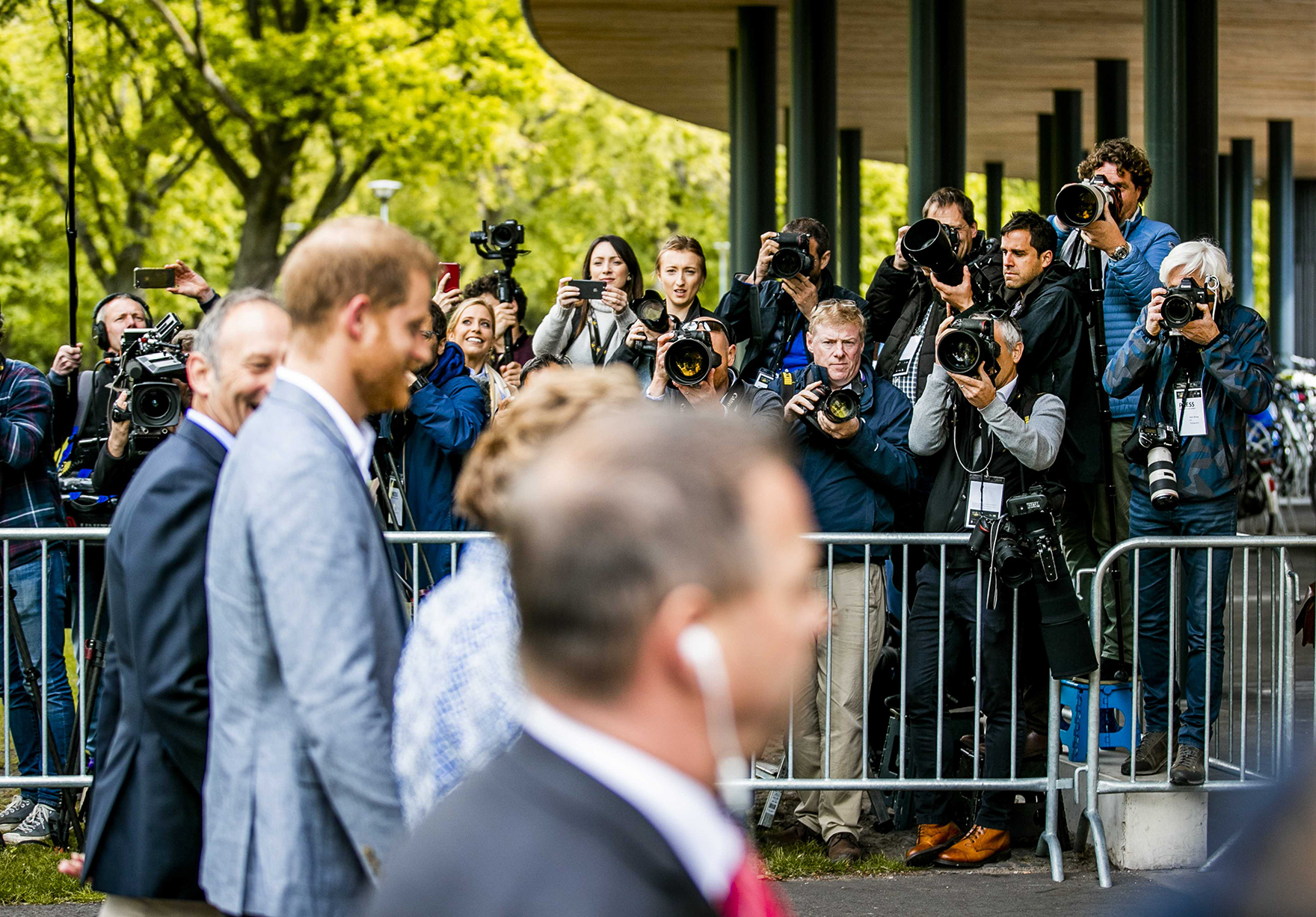 Prince Harry Visits Sportcampus Zuiderpark The Hague Den Haag Invictus Games Entrance Lh