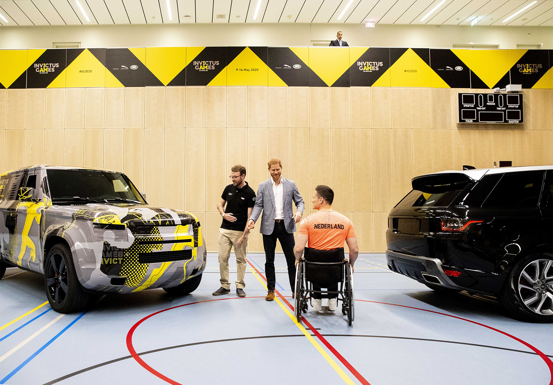 Prince Harry Visits Sportcampus Zuiderpark The Hague Den Haag Invictus Games Indoor Lh