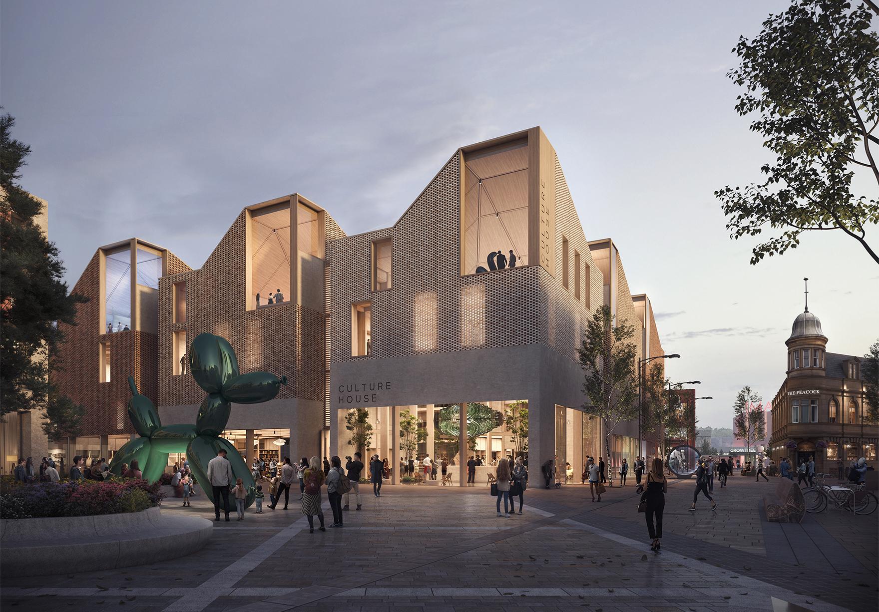 Riverside Sunderland Masterplan Faulknerbrowns Architects Culture House Render Lh