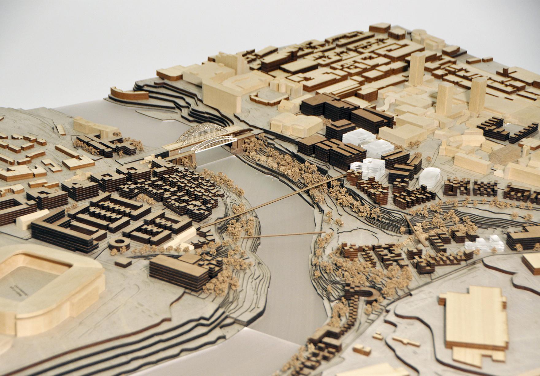 Riverside Sunderland Masterplan Faulknerbrowns Architects Masterplan Model Lh
