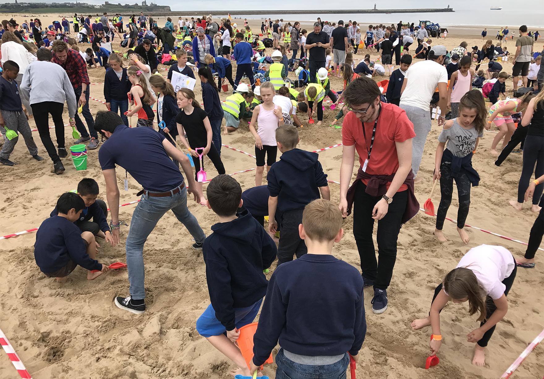 Sandcastle Challenge 2017 Holystone Primary School Sandcastle Building Lh