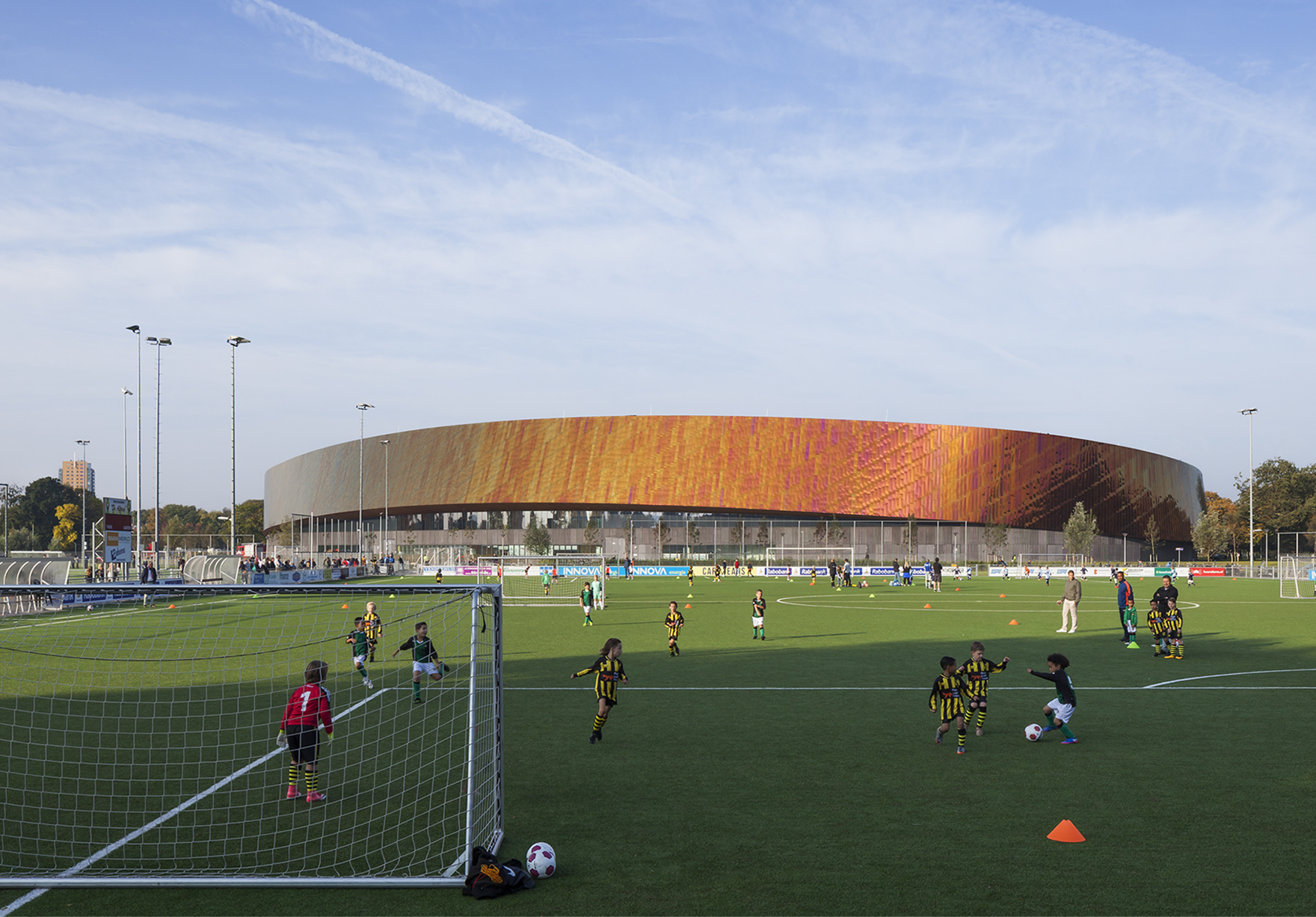 Sportcampus Zuiderpark The Hague Den Haag Netherlands Sport Education Exterior View From Sports Pitches Lh