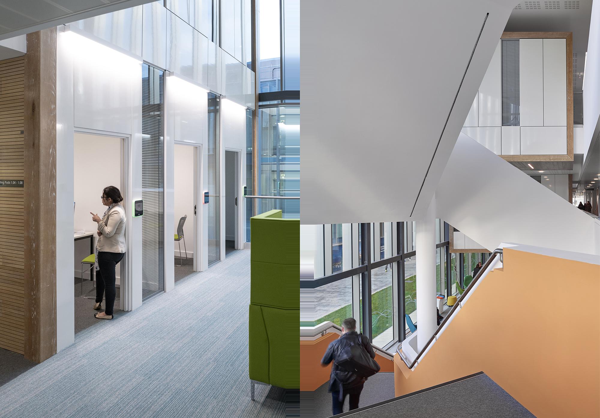 Student Life Building Rics Social Impact Award Faulknerbrowns Architects Education Timber Clad Meeting Pods Dp