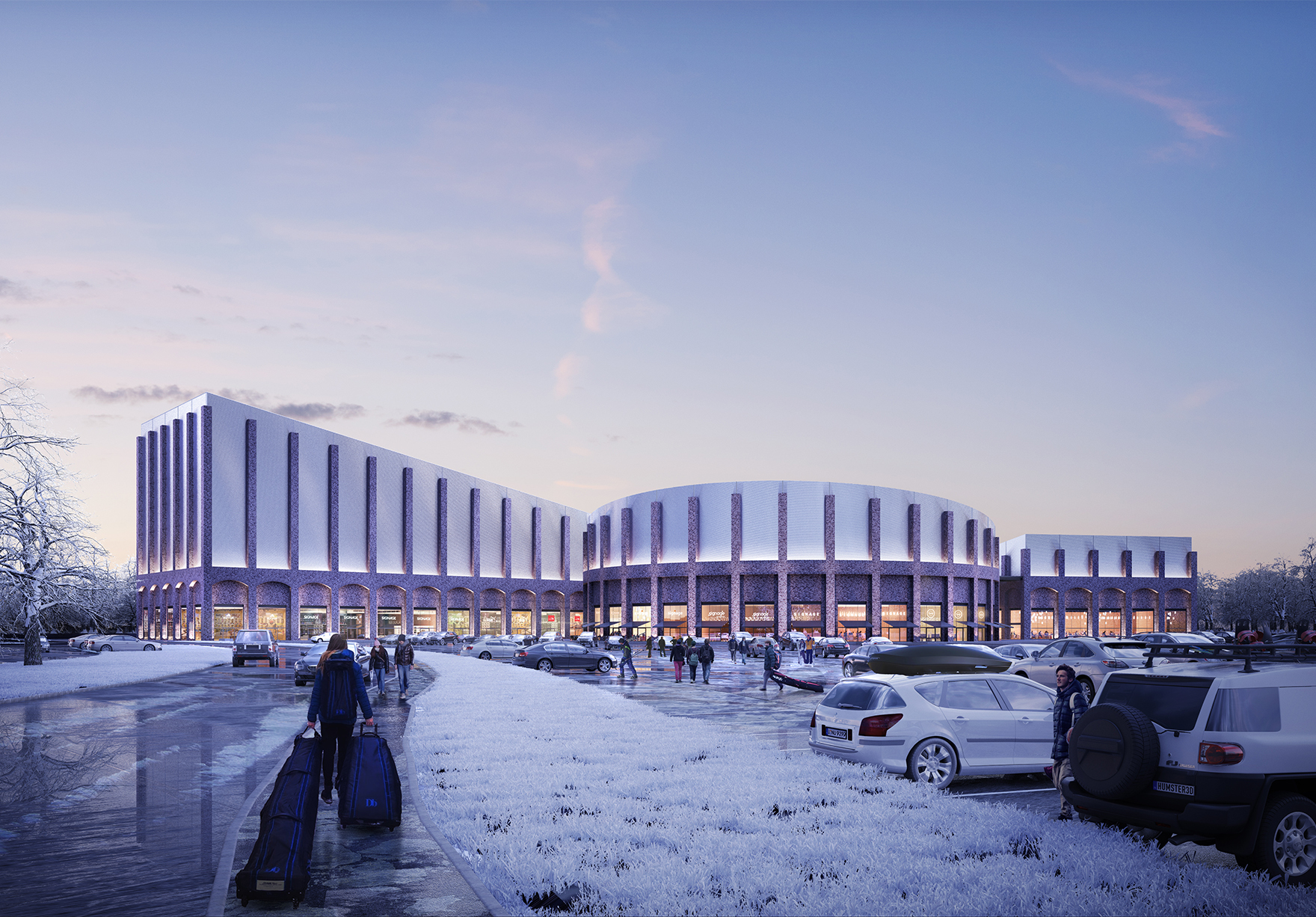 Swindon Snow Centre Indoor Snow Ski Slope Leisure Destination View From Approach Lh