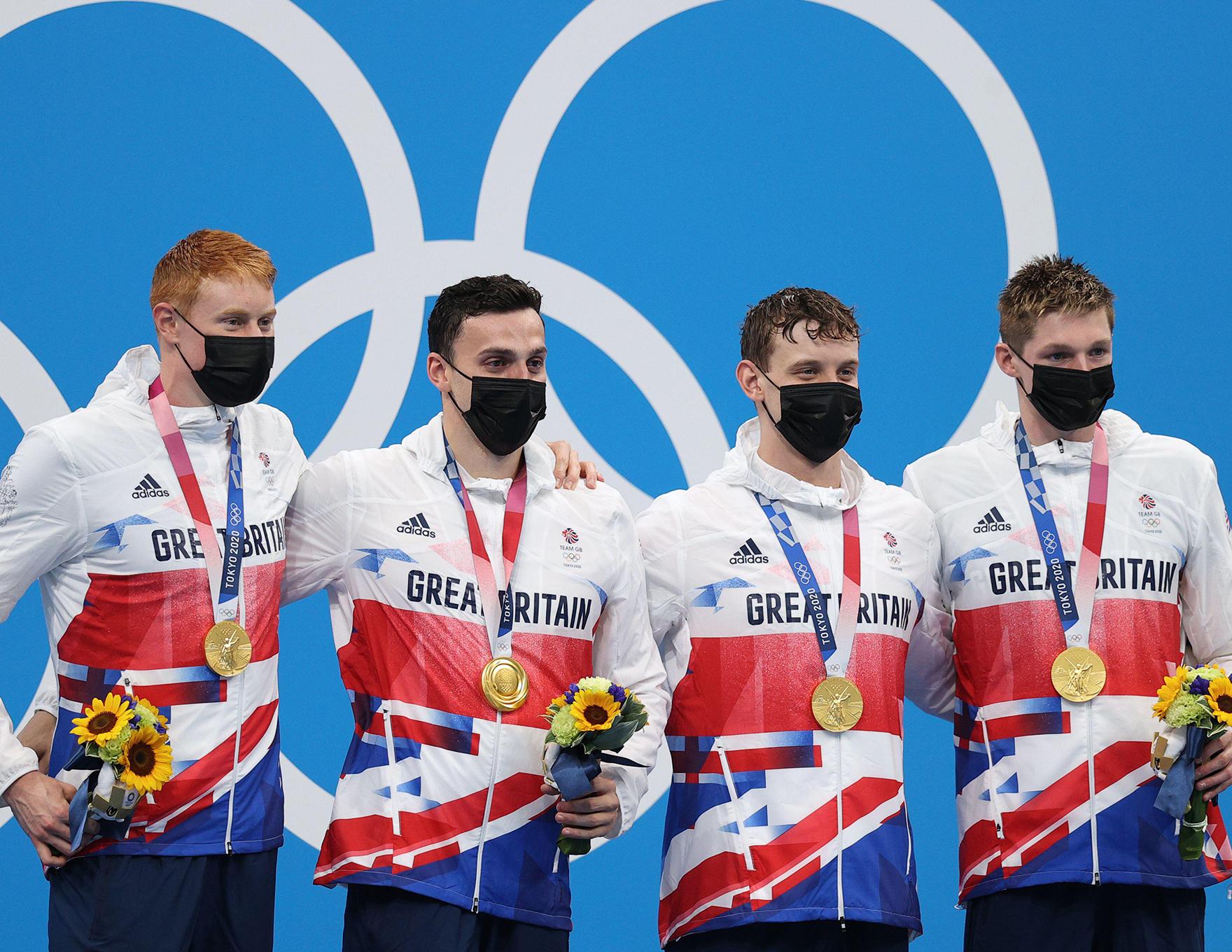 Team Gb Swimming Tokyo Olympic Medalists L