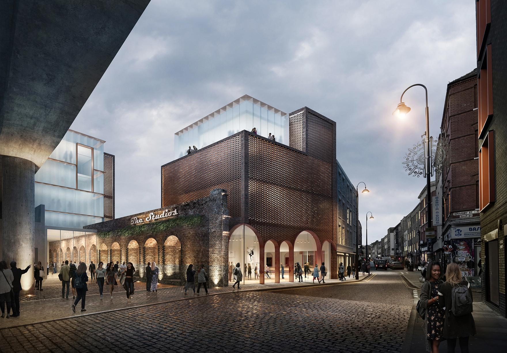 The Goodsyard Mixed Use Masterplan Faulknerbrowns Architects Cultural Building Brick Lane Lh