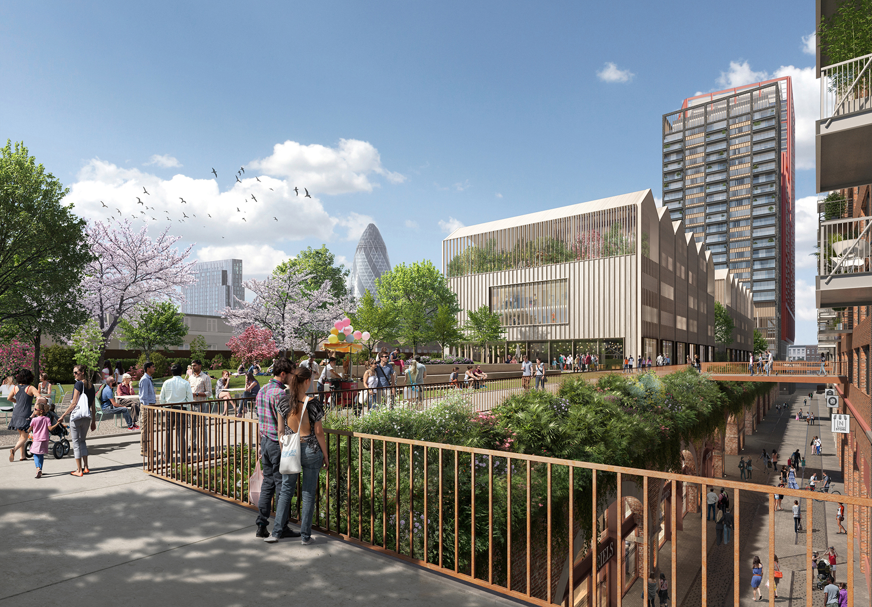 The Goodsyard Mixed Use Masterplan Faulknerbrowns Architects Public Park Residential Hotel Workplace Lh