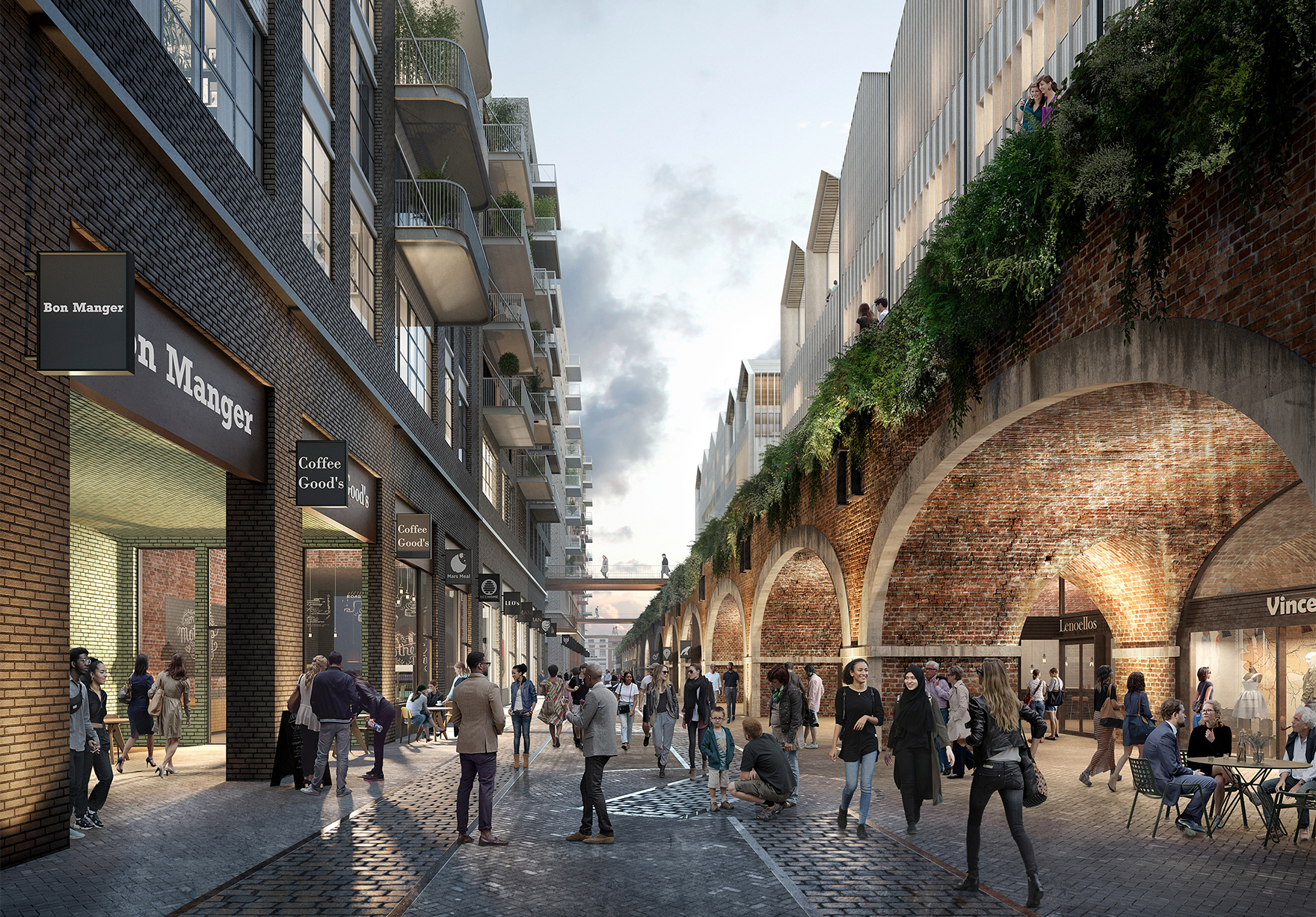 The Goodsyard Mixed Use Masterplan Faulknerbrowns Architects Tracks Residential Hotel Retail Lh