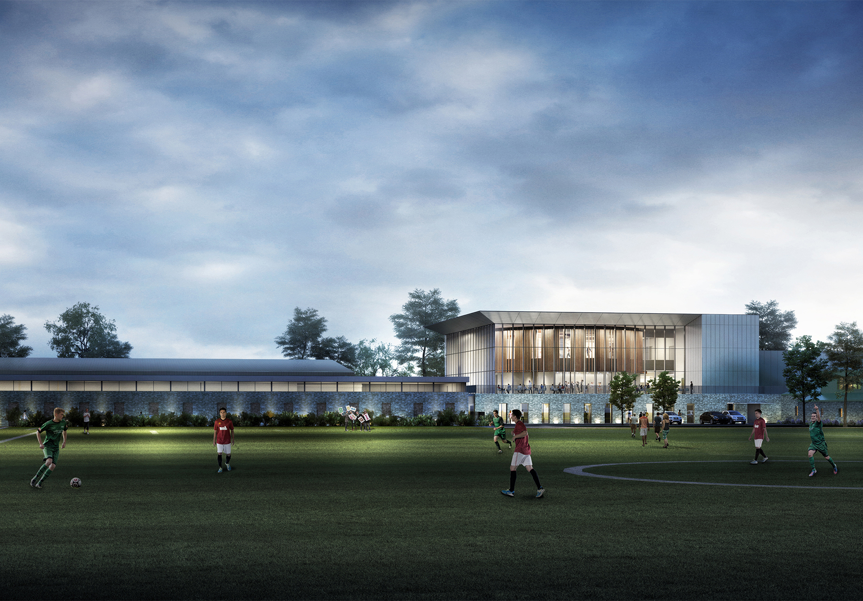 University Of Stirling Sports Centre View From Sports Pitches Faulknerbrowns Architects Lh