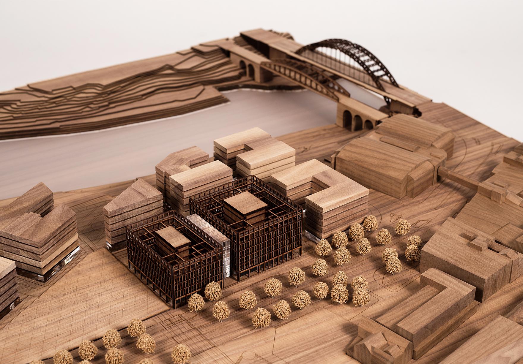 Vaux City Hall Construction Begins Sunderland Faulknerbrowns Architects Model Lh