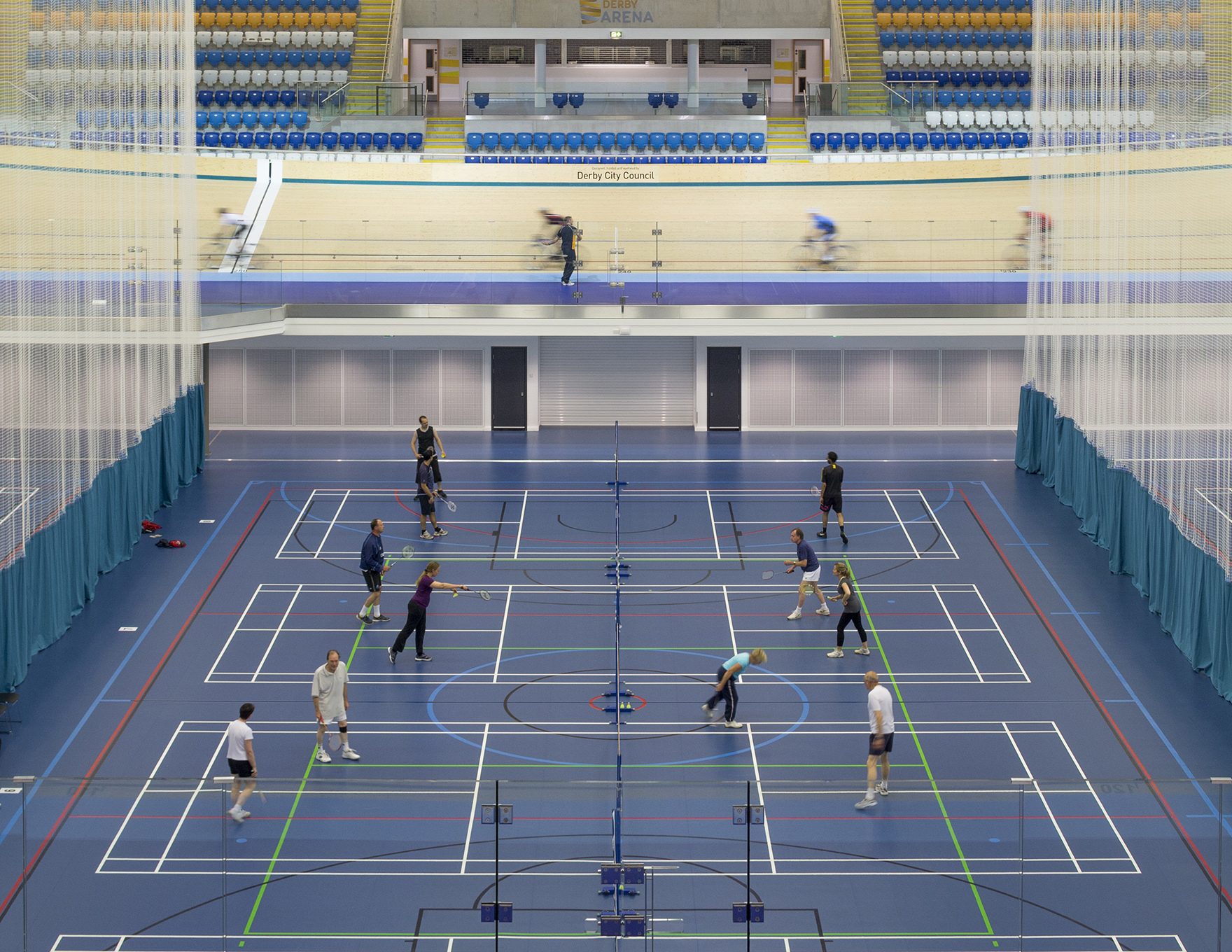 Community Leisure Expertise Derby Arena Badminton Infield Use L