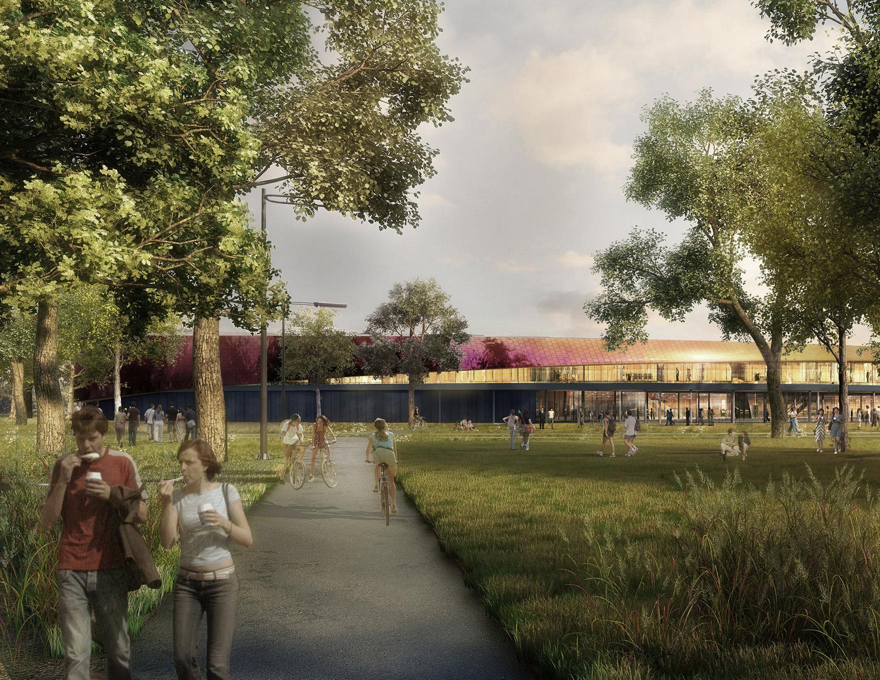 Community Leisure Expertise Sportcampus Zuiderpark External Park Visualisation L