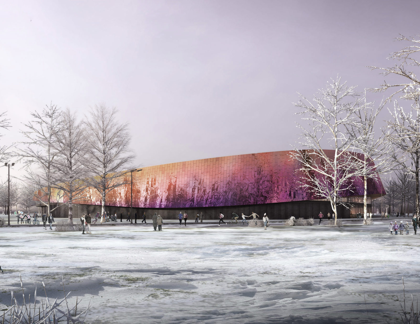 Community Leisure Expertise Sportcampus Zuiderpark External Snow Visualisation L