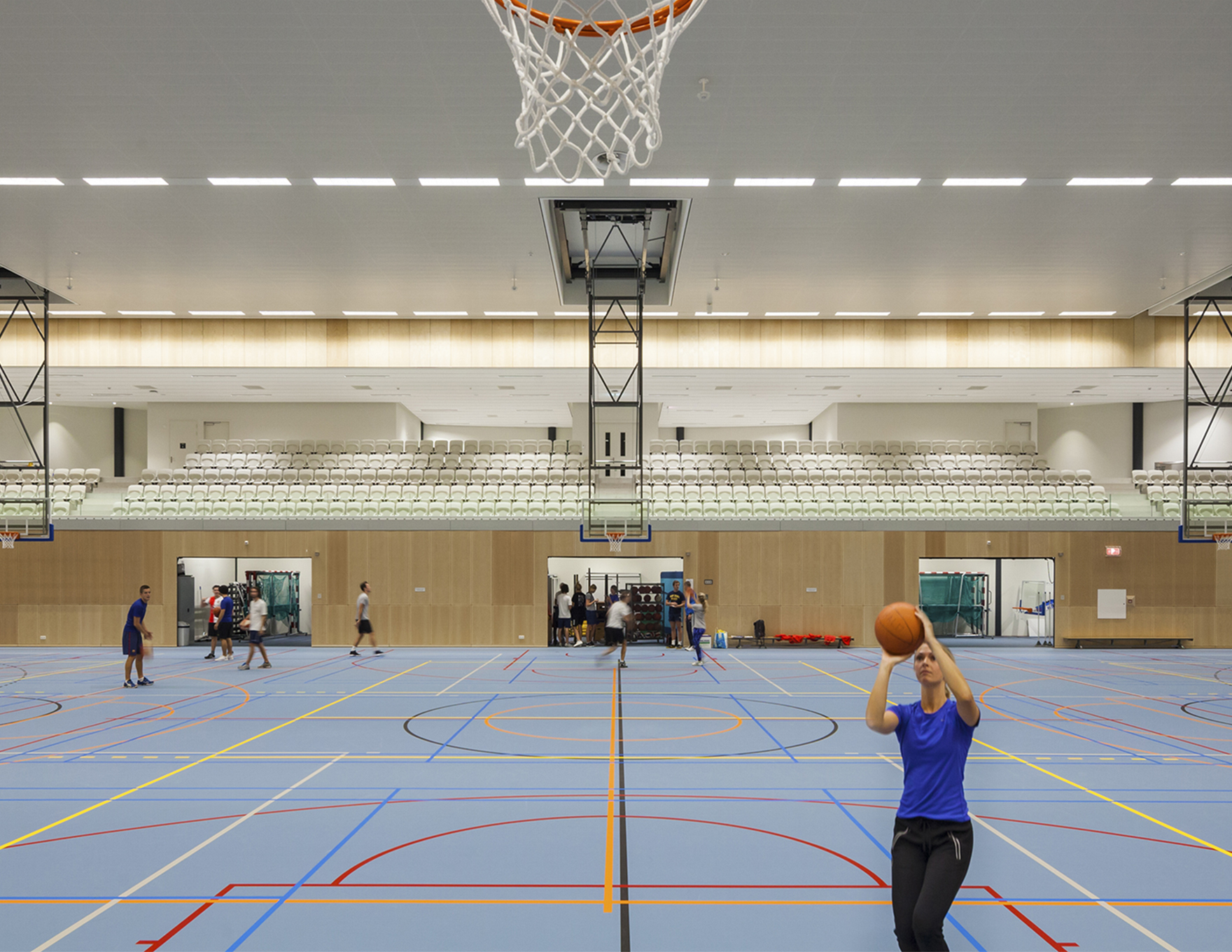 Community Leisure Expertise Sportcampus Zuiderpark Sports Hall Basketball L