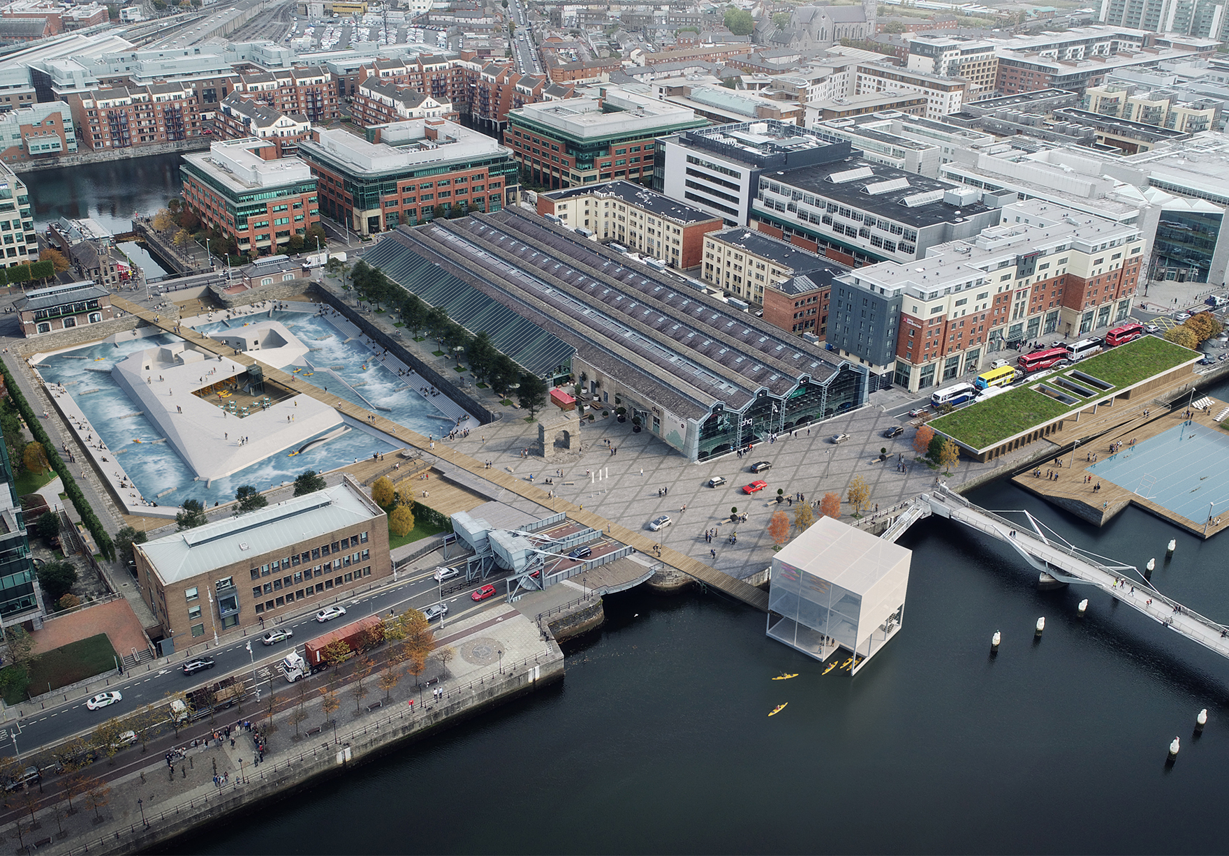 Dublin White Water Centre Faulknerbrowns Architects Sport Leisure Active Design Aerial View Lh