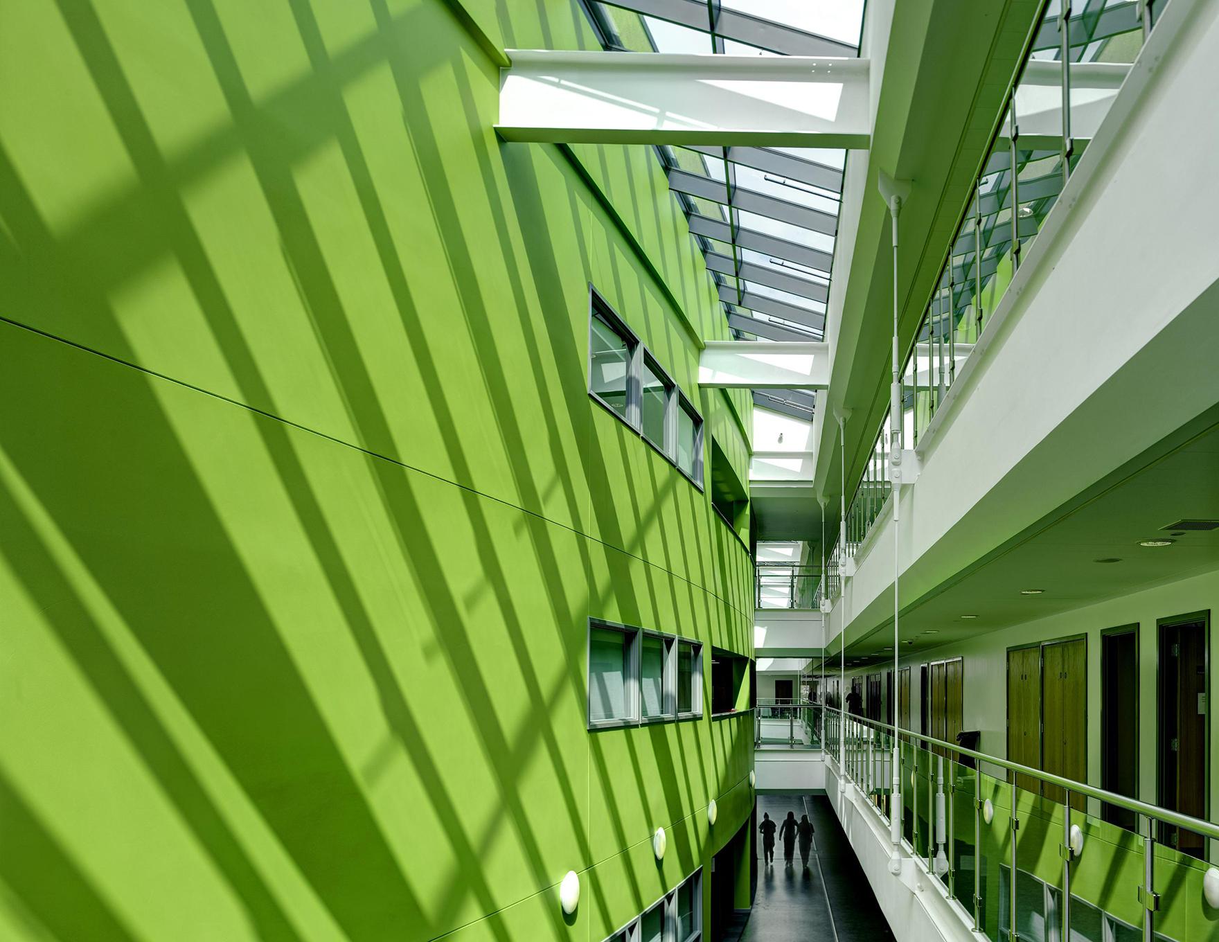 Inspirational Schools Design Ashton Campus Rooflit Atrium L