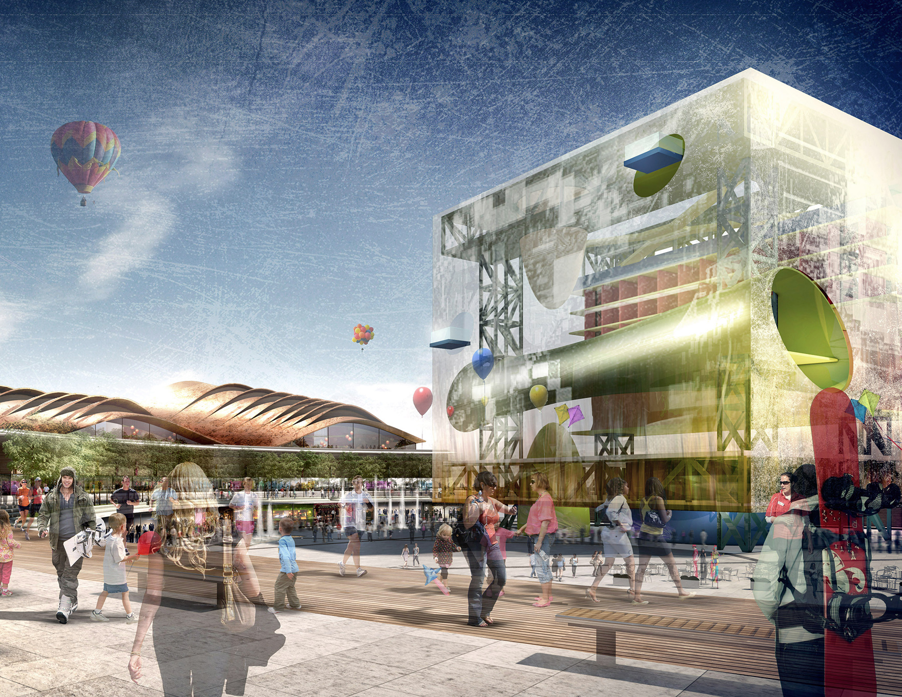 Retail Design Expertise The Cube Extreme Sports Destination Visualisation L