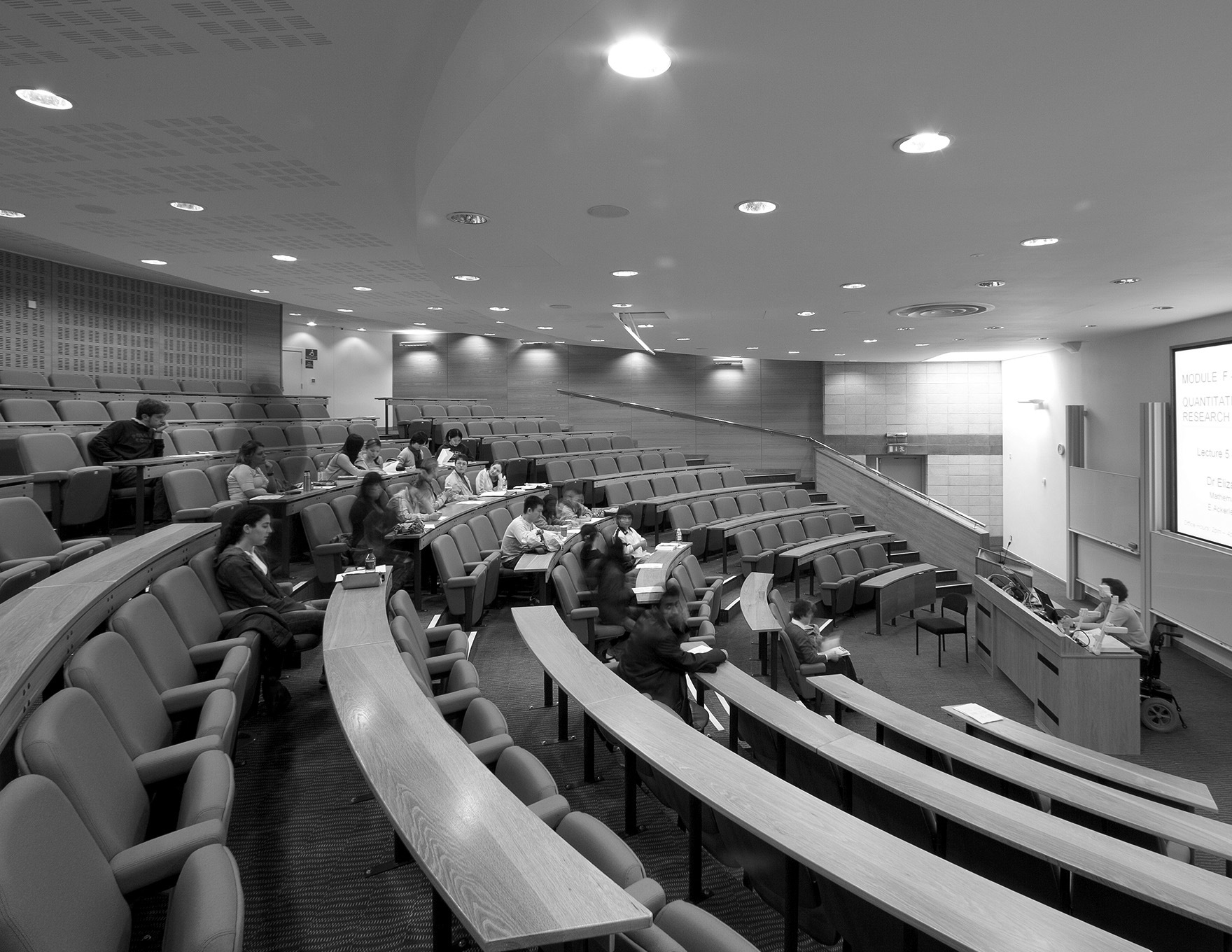 Teaching And Learning Expertise Lancaster University Management School Lecture Theatre Bw L