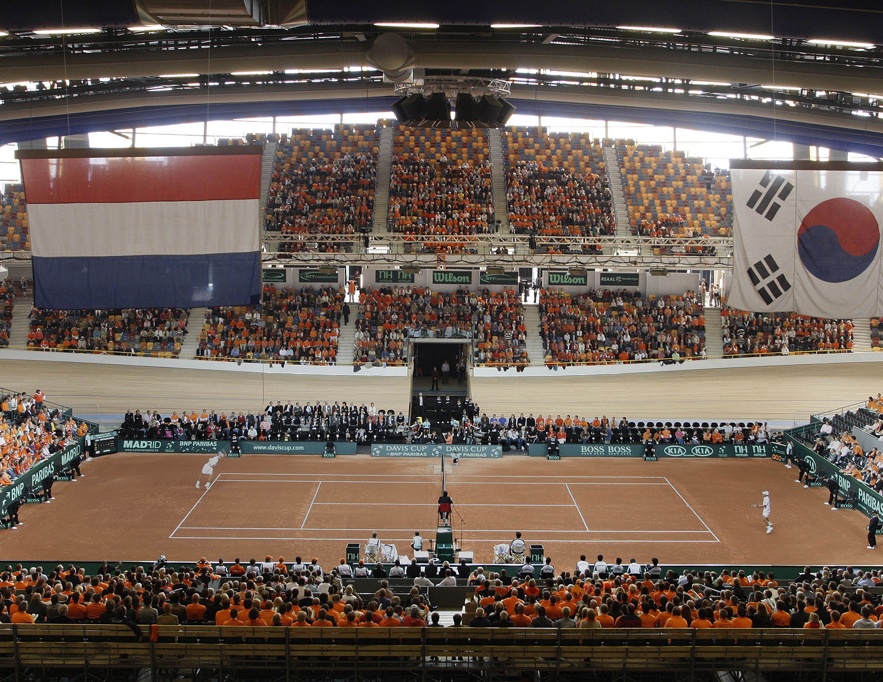 Velodrome Design Expertise Omnisportcentrum Apeldoorn Davis Cup Tennis Infield L